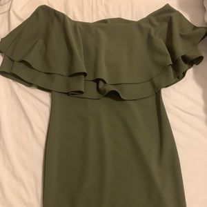 Strapless dress. Green. Size L. Never worn.